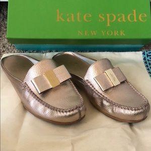 Kate Spade Rose Gold Slides Mules